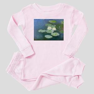 Claude Monet Water Lilies Baby Pajamas