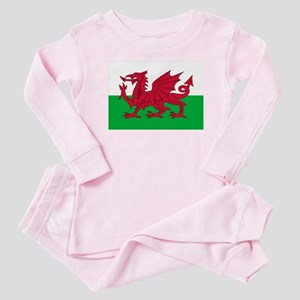 Welsh flag of Wales Baby Pajamas