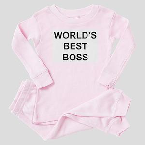 """""""World's Best Boss"""" Baby Pajamas"""