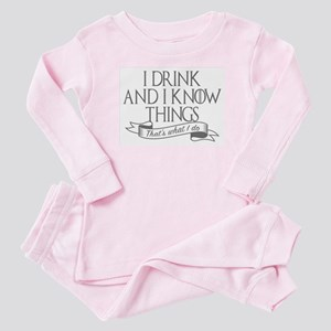 I drink and I know things Game of Throne Baby Paja