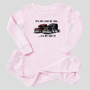 Trucker - it's my life Baby Pajamas