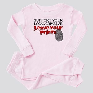 Crime Lab - Leave Your Prints Baby Pajamas
