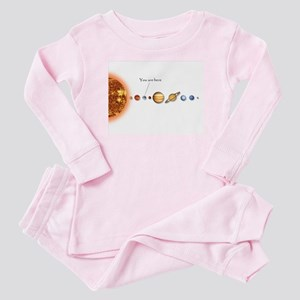 You are here Galactic Map Baby Pajamas