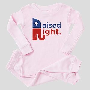 Raised Right Baby Pajamas