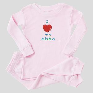 I Love My Abba Baby Pajamas