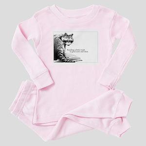 Reading Raccoon Baby Pajamas