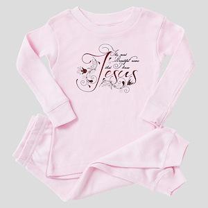 Beautiful name of Jesus Baby Pajamas