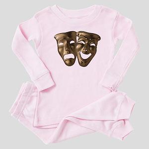 Drama and Comedy Masks Baby Pajamas