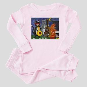 Jazz Cats at Night Baby Pajamas
