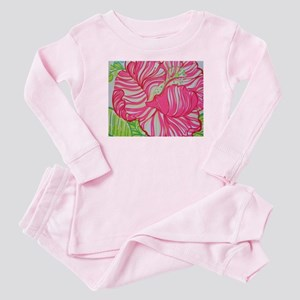 Hibiscus in Lilly Pulitzer Baby Pajamas