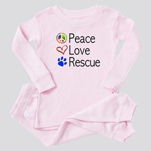 Peace Love Rescue Baby Pajamas