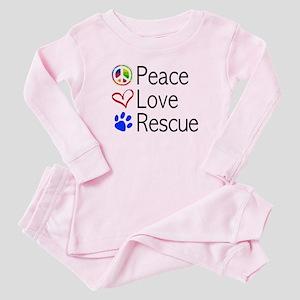 Peace Love Rescue Baby Pajamas