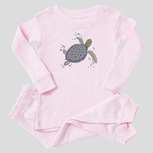 Swimming Sea Turtle Baby Pajamas
