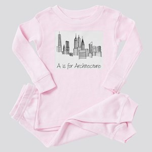 A is for Architecture Skyline Baby Pajamas