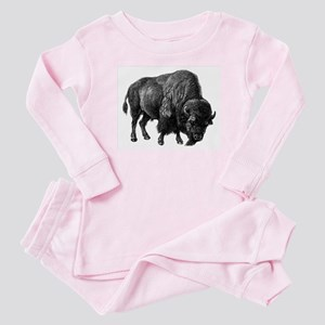 Vintage Bison Baby Pajamas