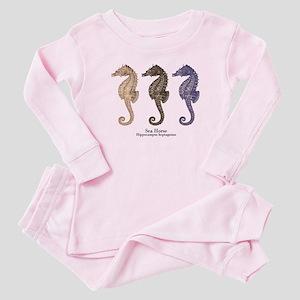 Sea Horse Vintage Art Baby Pajamas