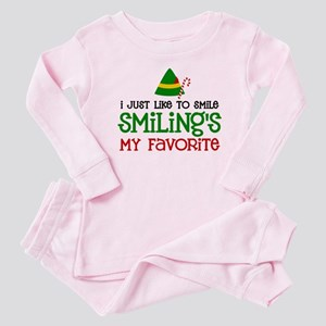 Smiling Is My Favorite Baby Pajamas