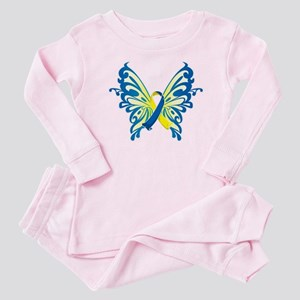 Down Syndrome Butterfly Baby Pajamas