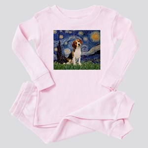 Starry Night & Beagle Pup Baby Pajamas