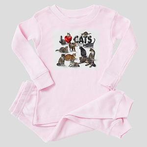 """""""I Love Cats"""" Baby Pajamas"""