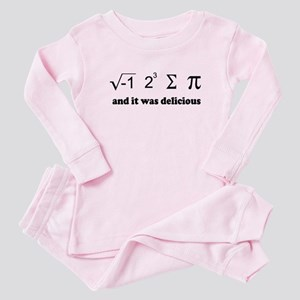 i eight sum pi Baby Pajamas