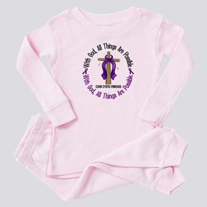 With God Cross Cystic Fibrosis Baby Pajamas