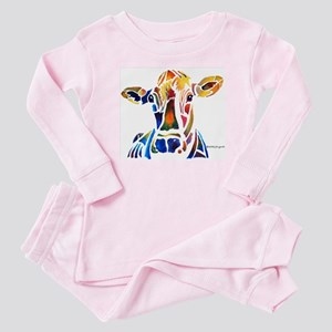 Whimzical Original Cow Art Baby Pajamas