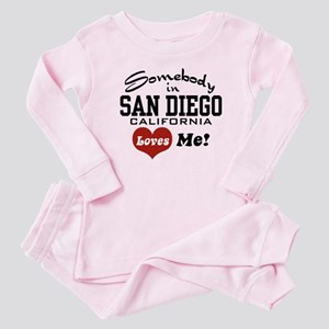 Somebody In San Diego Loves Me Baby Pajamas