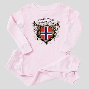 Proud to be Norwegian Baby Pajamas