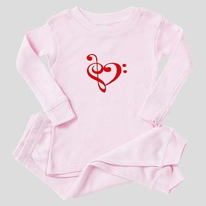 TREBLE MUSIC HEART Baby Pajamas