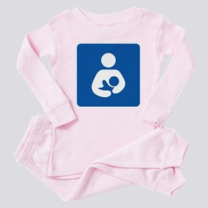 Interntaional Breastfeeding Symbol Baby Pajamas