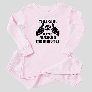This Girl Loves Alaskan Malamutes Baby Pajamas