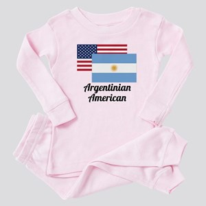 American And Argentinian Flag Baby Pajamas