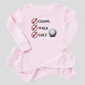 Crawl Walk Golf Baby Pajamas