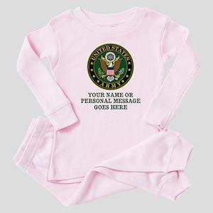CUSTOM TEXT U.S. Army Baby Pajamas