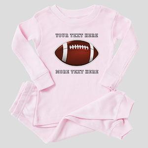Personalized Football Baby Pajamas