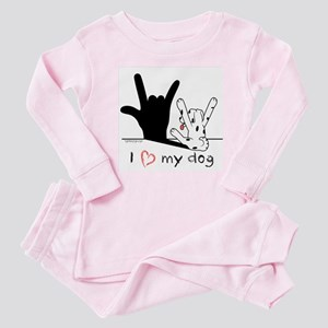 I Love My Dog Baby Pajamas