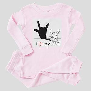 I Love My Cat Baby Pajamas