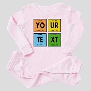 Your Text Periodic Elements Nerd S Baby Pajamas