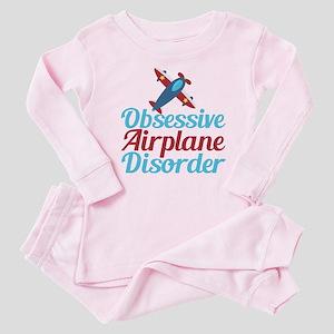 Cool Airplane Baby Pink Pajamas