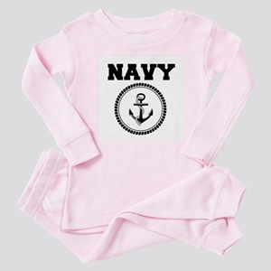 Navy Baby Pajamas