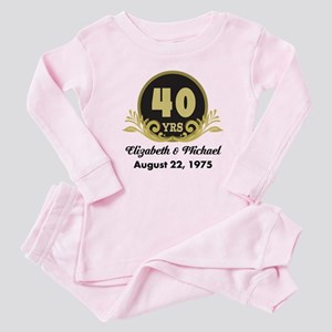 40th Anniversary Personalized Gift Idea Baby Pajam