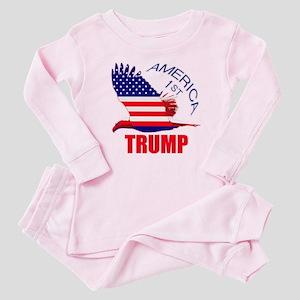 Trump America First Eagle Baby Pajamas