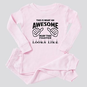 This is what an Muay Thai Fighter Baby Pajamas