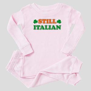 Still Italian Irish Shamrock Baby Pajamas