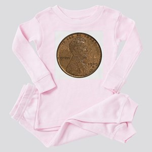 Lincoln Wheat Obverse Baby Pajamas
