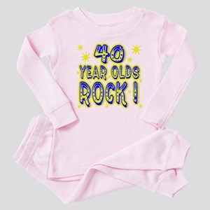 40 Year Olds Rock ! Baby Pajamas