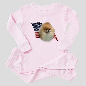 Pomeranian Flag Baby Pajamas