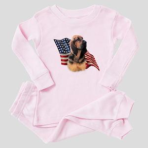 Bloodhound Flag Baby Pajamas