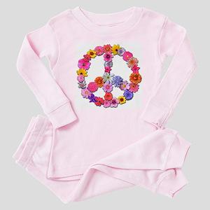 Peace Flowers Baby Pajamas